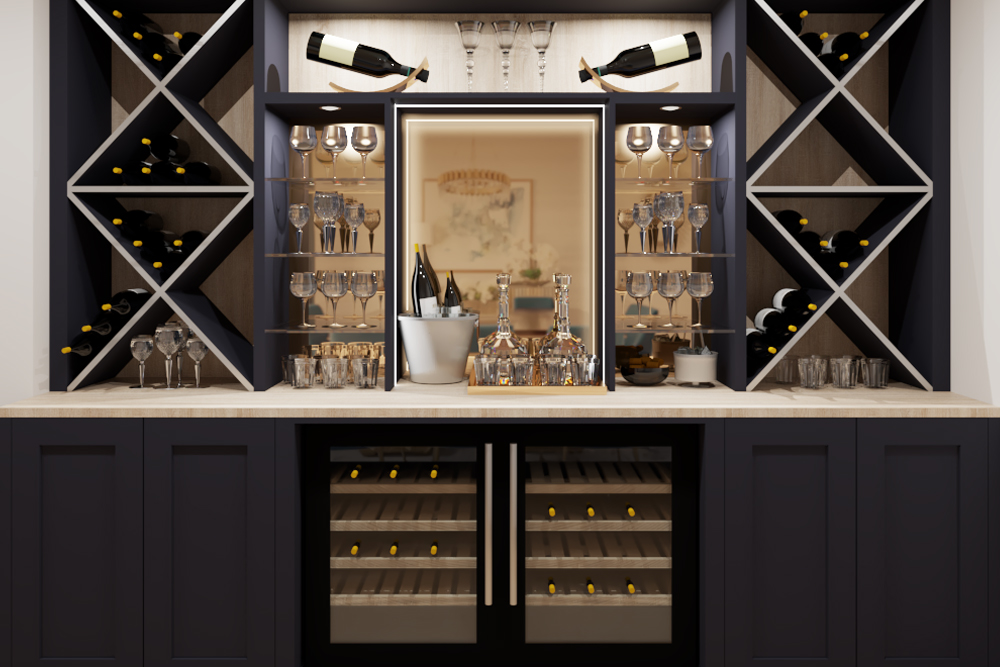 Sophisticated wine room