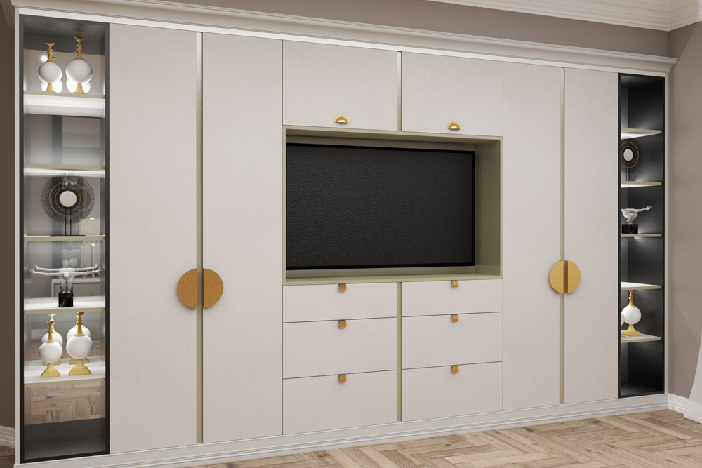 Wardrobes and TV cabinet